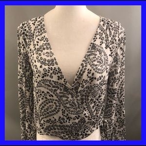 Jack by BB Dakota wrap top, black & white.large